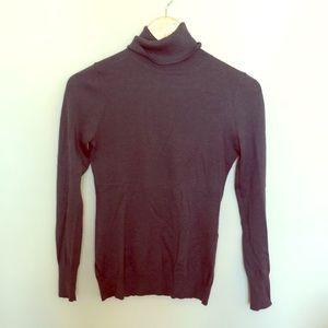Silk blend turtleneck sweater